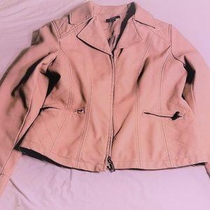 Alfani Blush Leather Jacket